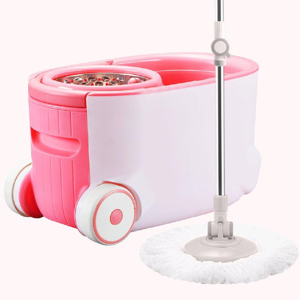 モップ完全洗浄システムモップヘッド+ 360°回転モップバケット時間と労力を節約ロータリーモップ B07FMMRQBF