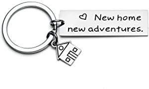New Home New Adventures Keychain First Home Gift Housewarming Gift Realtor Closing Gifts