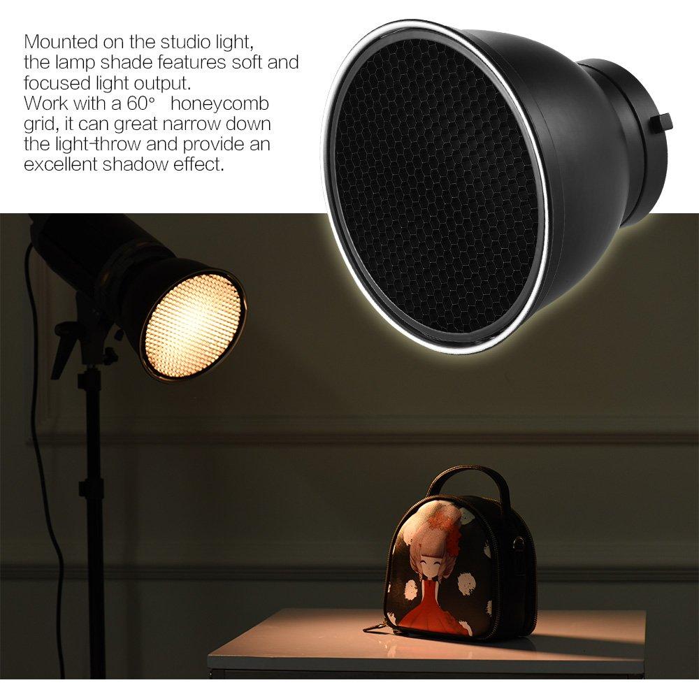 "Haoge 7 Standard Reflector Diffuser Lamp Shade Dish For: Andoer 7"" Standard Reflector Diffuser Lamp Shade"