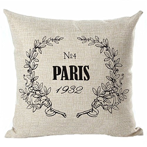 French Linen Pillow - Throw Pillow Cover, Onker Cotton Linen Square Decorative Throw Pillow Case Cushion Cover 18