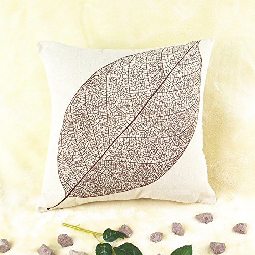 GD Simples almohada cojín de algodón cojines del sofá hojas ...