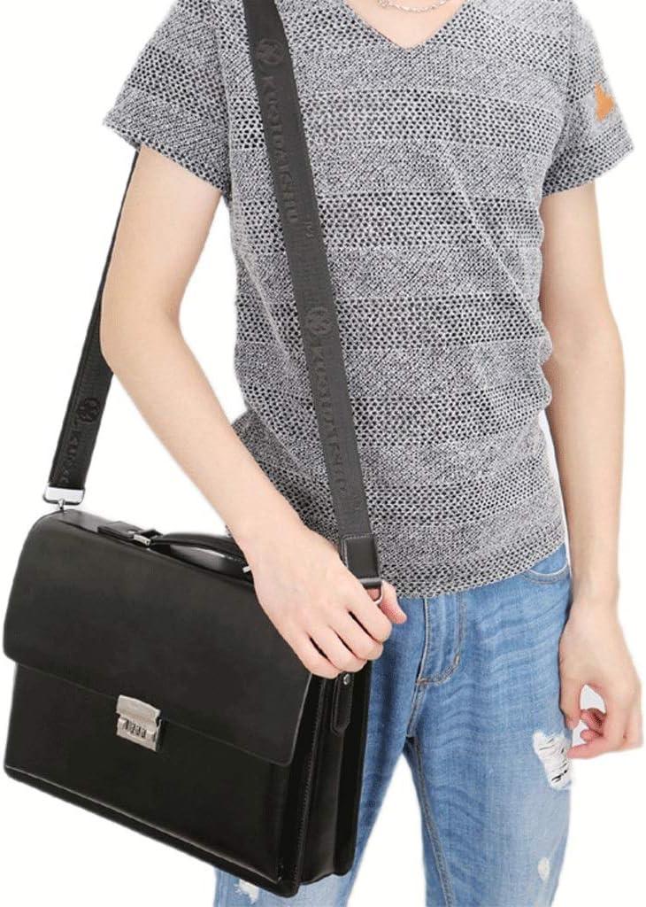 Color : Brown, Size : S DONGLU Mens Business Briefcase Work Code Lock Bag Shoulder Bag