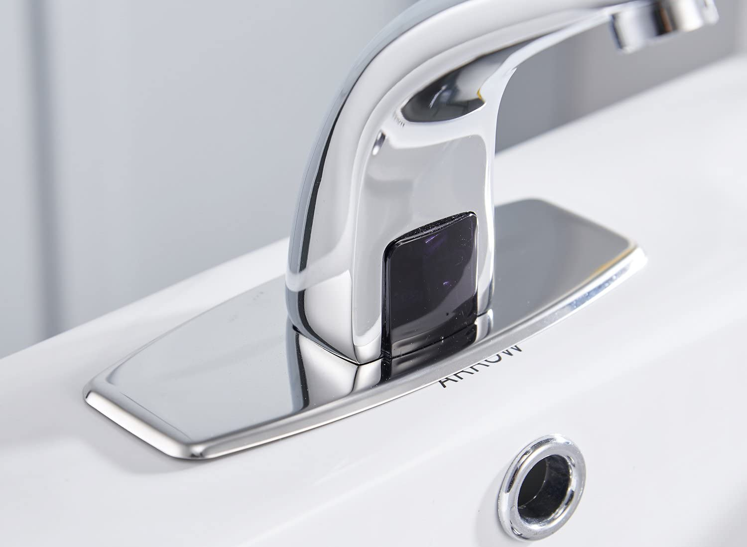Greenspring Bathroom Faucet Automatic Sensor Touchless Bathroom Sink Faucets with Hole Cover Plate Hands Free Chrome Vanity Faucets Commercial - -
