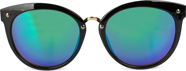 100/% UV 400 Unisex Sonnenbrille mit runden Gläsern /& Kunststoff-Metall Gestell