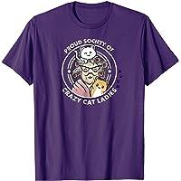 Wonky Crazy Cat Ladies Men's ComfortSoft Short Funny T-Shirt