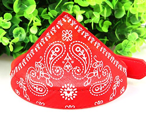 Red Bandana Pet Stores (smalllee_lucky_store?Bandanas Adjustable Small Puppy Dogs Collars Fashion Pet Neckerchief Scarf)