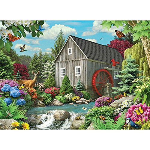 Bits and Pieces - 500 Piece Jigsaw Puzzle - Country Mill - Wildlife Stream - by Artist Alan Giana - 500 pc Jigsaw