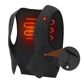 Chaleco térmico USB, chaqueta eléctrica ligera de 5 V para hombres y mujeres, ropa