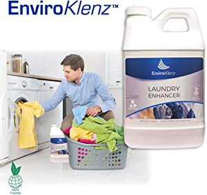 EnviroKlenz Laundry Odor Eliminator Detergent Booster, Best Laundry Additive 30 Loads Liquid
