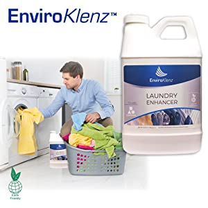 EnviroKlenz Liqud 15 Loads Fragrance Free, Non-Toxic Laundry Additive For Fragrance, MalOdor & Chemical Odor Removal
