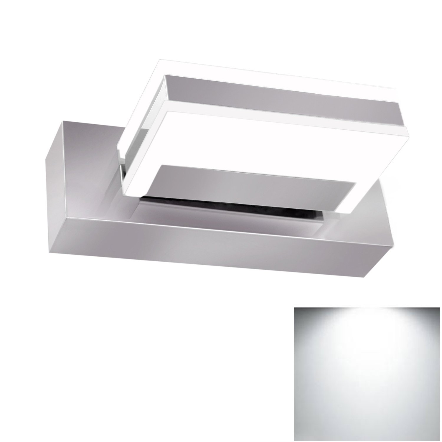 Bathroom Mirror Light Fixture Jentinsun 3W LED Modern Waterproof ...