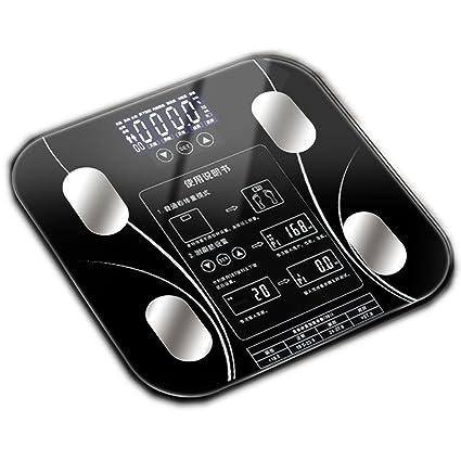 JTHKX Escalas inteligentes grasas Básculas electrónicas Básculas de peso Básculas de grasa para el hogar cuerpo