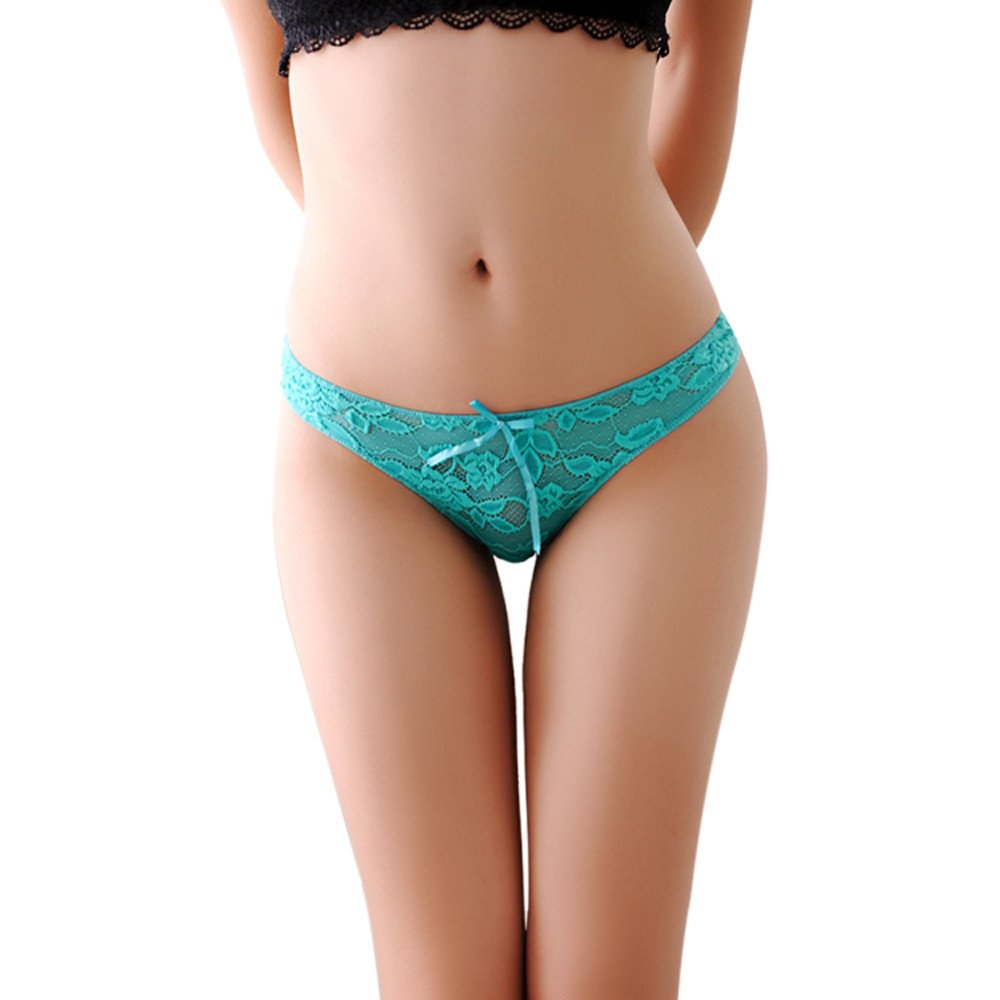 Womens Lace Soft Hipster Panties Brief Underwear (Free, Green)