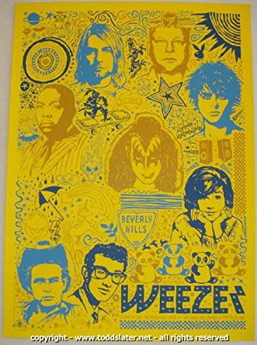 2008 Weezer Silkscreen Concert Poster by Todd (Silkscreen Concert Poster)