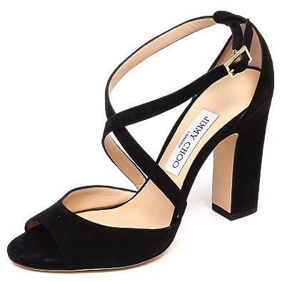 17aa3acafda Jimmy Choo F0850 Sandalo Donna Black Carrie Scarpe Suede Sandal Shoe Woman   38.5   Amazon.de  Schuhe   Handtaschen