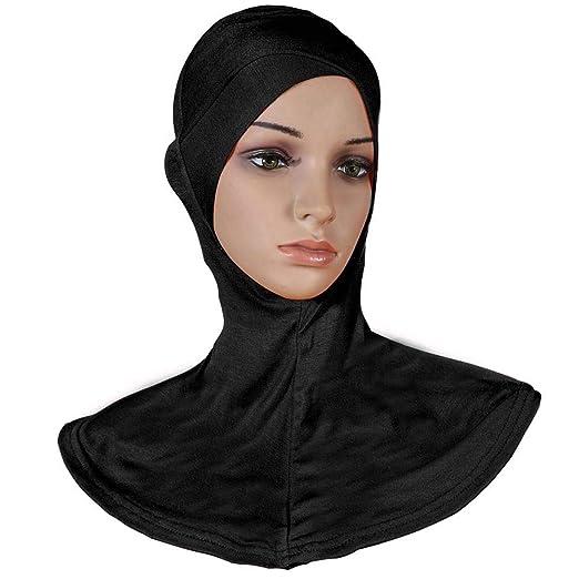 Amazon.com  Women Adjustable Muslim Hijab Neck Cover Scarf Bonnet Inner  Hijab Cap Full Cover Bone Lady Islamic Muslim Headwear (43x45cm 2880a6e310c