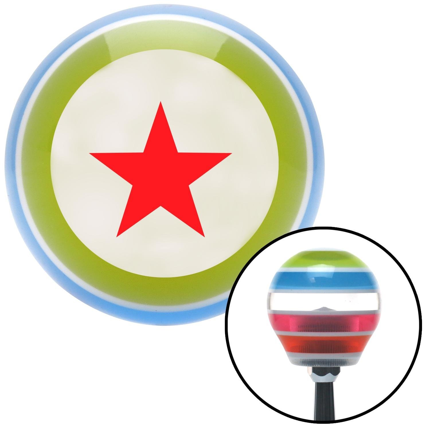 American Shifter 135009 Stripe Shift Knob with M16 x 1.5 Insert Red Rear Admiral Lower Half