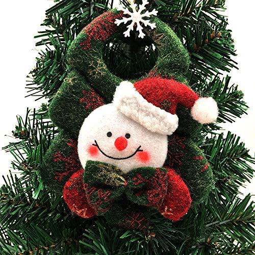 Gbell Christmas Tree Decorations Hanging Bear Snowman Santa Ornaments Xmas Party Decor Door Christmas Trees Windows -