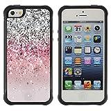 God Garden@ Glitter Bling Silver Pink Light Rugged Hybrid Armor Slim Protection Case Cover Shell For iphone 5S CASE Cover ,iphone 5 5S case,iphone5S plus cover ,Cases for iphone 5 5S