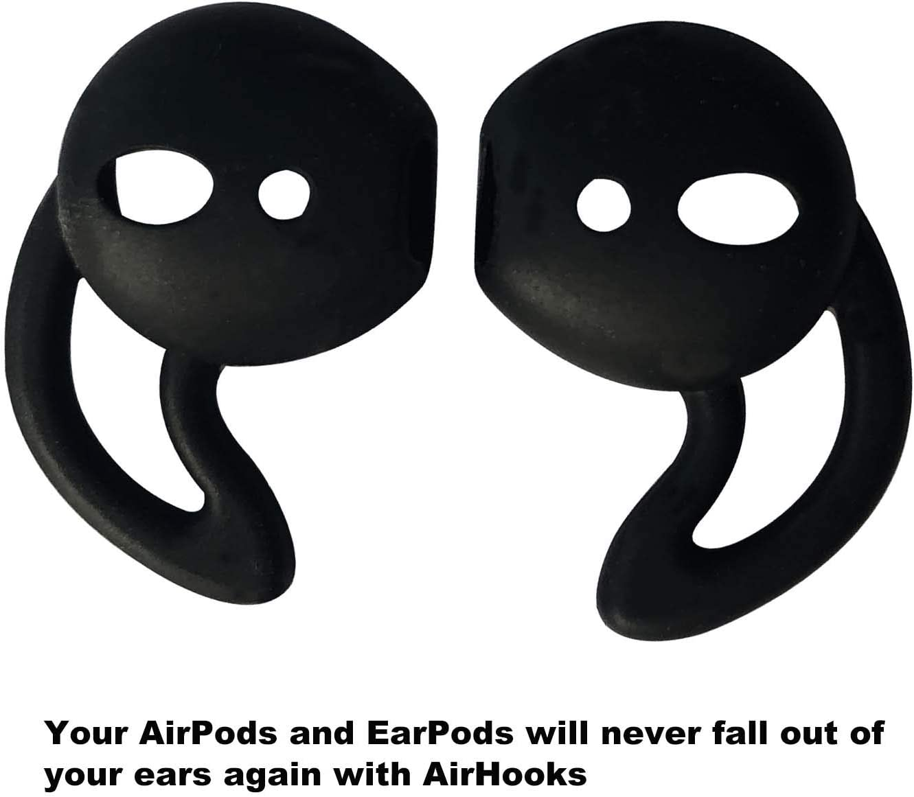 Earpods,Anti-Slip Silicone Soft Sport Covers Accessories Apple AirPods Earbud airpods eartips-Black 3 Pairs Compatible with Airpods 1 /& 2