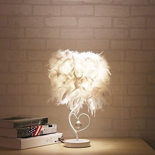 Jour Feder De Table Lampe Led À Chevet E27 Abat Avec k0P8XwOn