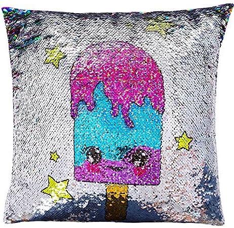 Licorne étoiles coussin oreiller chambre mignon filles intérieur magique sparkle glitter