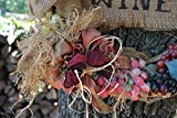Wine Cork Wreath, Grape Wreath, Wine Themed Wreath, Burlap Rustic wreath, Vino Themed Grapevine Wreath, Handcrafted Wreath, Grapes, Corks