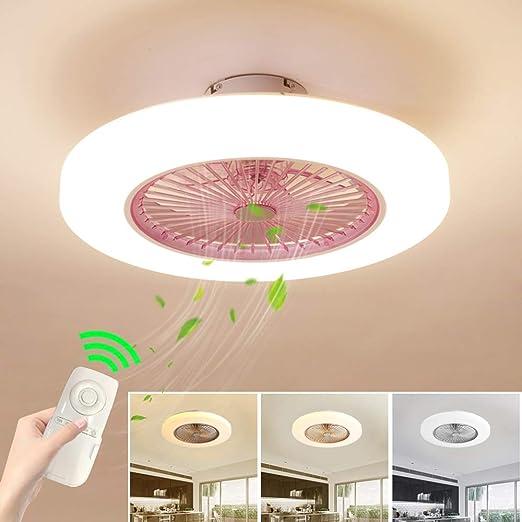 Ventilador de techo con lámpara, Ventilador de techo con luces LED ...