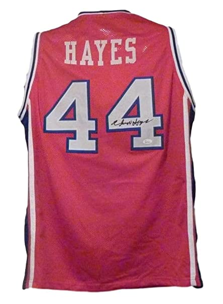 230eddd6dfdb Image Unavailable. Image not available for. Color  Elvin Hayes Autographed  Signed Houston Cougars Red XL Jersey JSA