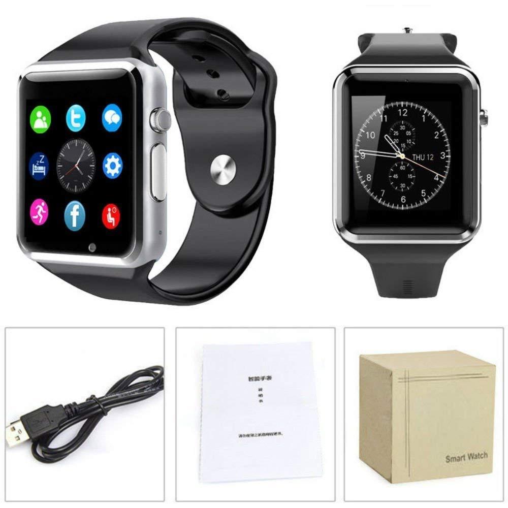16bd48b26384 Reloj Celular Smartwatch A1 Camara Bluetooth MicroSD  Amazon.com.mx   Electrónicos