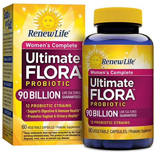 Billion 60 Capsules (Renew Life - Ultimate Flora Probiotic Women's Care - 90 billion - 60 vegetable capsules)