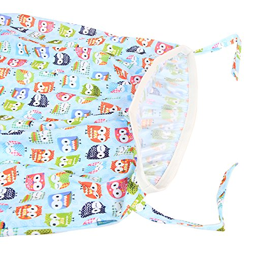 Teamoy Reusable Pail Liner for Cloth Diaper/Dirty Diapers Wet Bag, Cute Owls