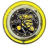 Trademark Gameroom NCAA Wichita State University Chrome Double Ring Neon Clock, 14''