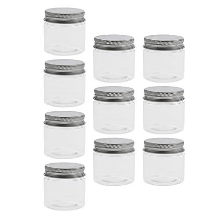 non-brand Sharplace 10 Unidades Envase Cosmético Pequeña Botella de Plástico de Alta Calidad Uso