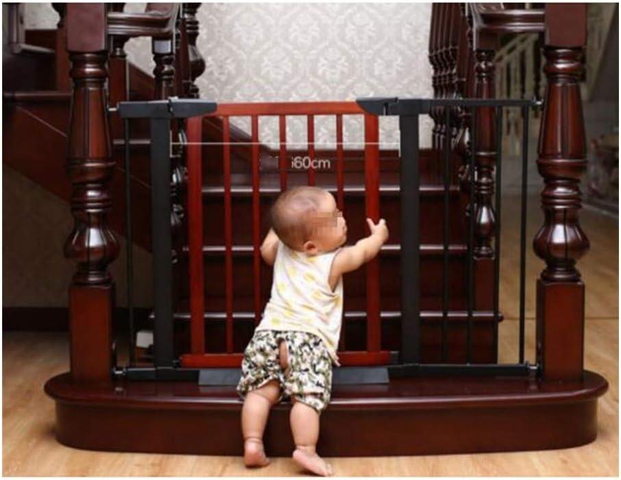 AGLZWY 階段の安全扉 安全柵 仕切りゲート ペットガードレール 犬の手すり 安全扉 部屋の仕切り 拡張可能 屋内 キッチン、21サイズ (Color : Brown, Size : 138-145X74.5CM)