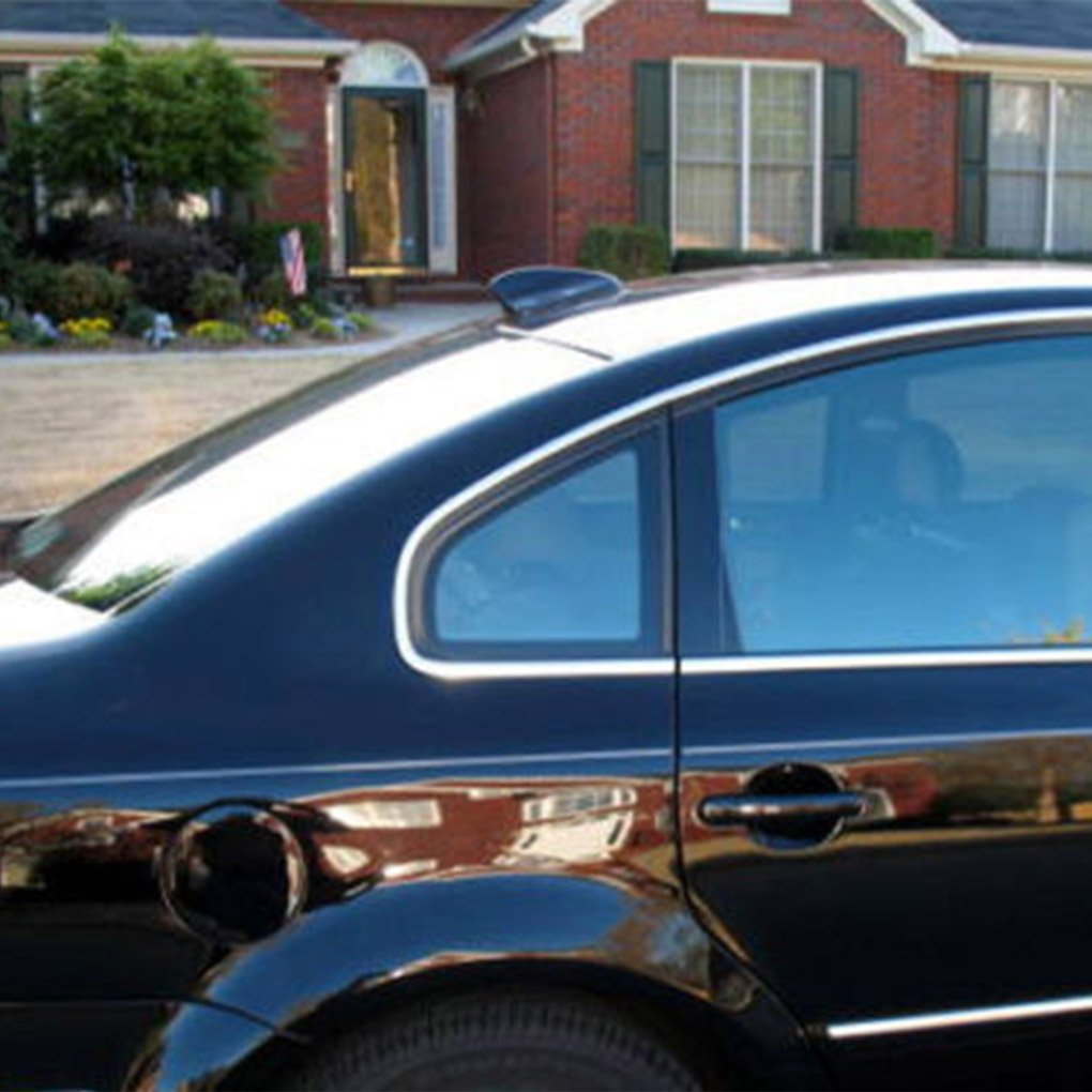 M-Egal Universal ABS Black Shark Fin Car Truck RV Radio Stereo Antenna with FM Functions black 145x76x60mm