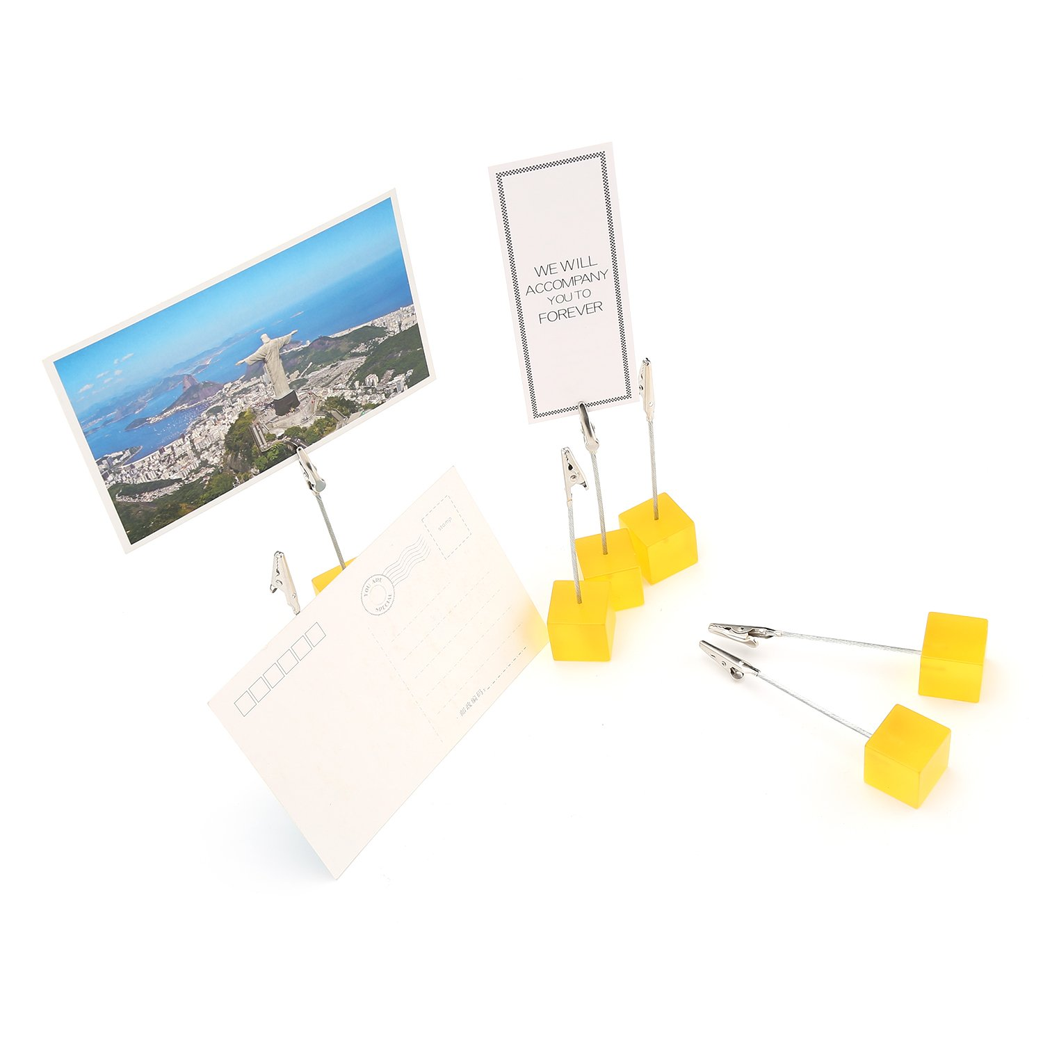 LATH.PIN Table Number Holder Photo Name Place Card Picture Memo Note Paper Menu Clip Stand 7 Packs 7 Packs Black