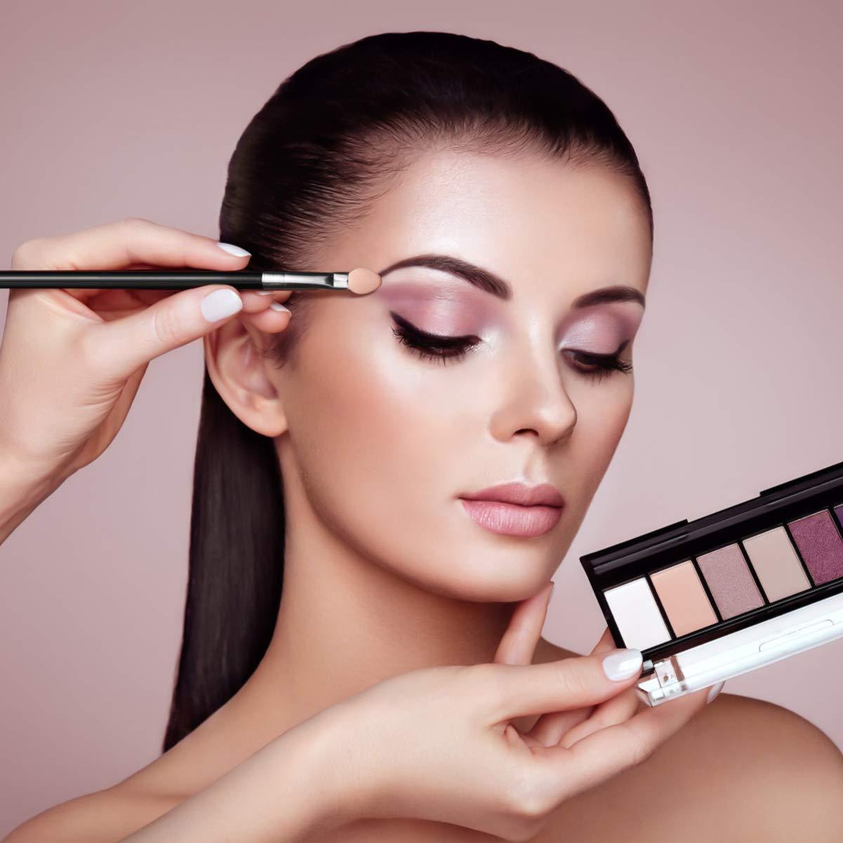 Sponge Eyeshadow Brushes Kit Professional Eye Makeup Applicators Dual Color Smudge Eye Brushes Set, 10pcs