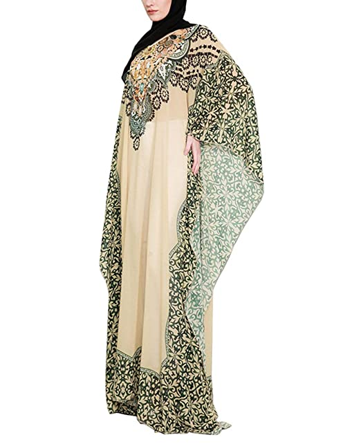 Mujer Vestidos de los Arabes - Maxi Caftan Abrigo Musulman Abaya Dubai Largo Elegantes Gasa: Amazon.es: Ropa y accesorios
