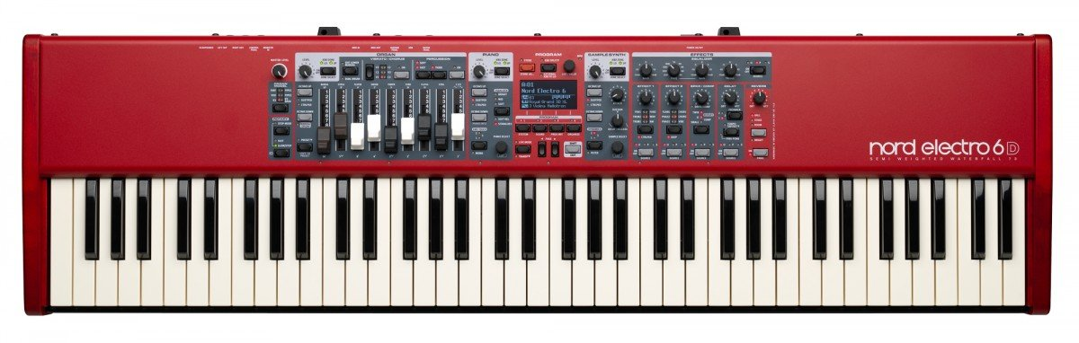 Nord Electro 6D 73 Stage Piano, 73-Note Semi-Weighted Waterfall Keybed by Nord