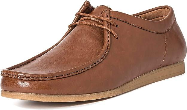 TALLA 40 EU. Hombres Queensberry Oscar Wallaby Smart Oficina Desierto Trabajo Loafer Chukka Formal Zapatos