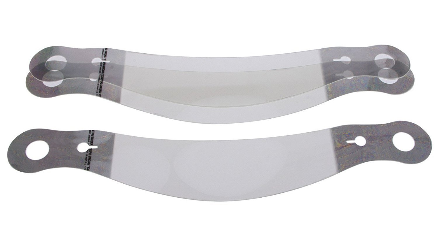 10235C - Racing Optics Xstack Helmet Tear Off Fits Bell: HP7 and RS7 with SE07 Shield and Zylon Visor Strip-Small Tabs