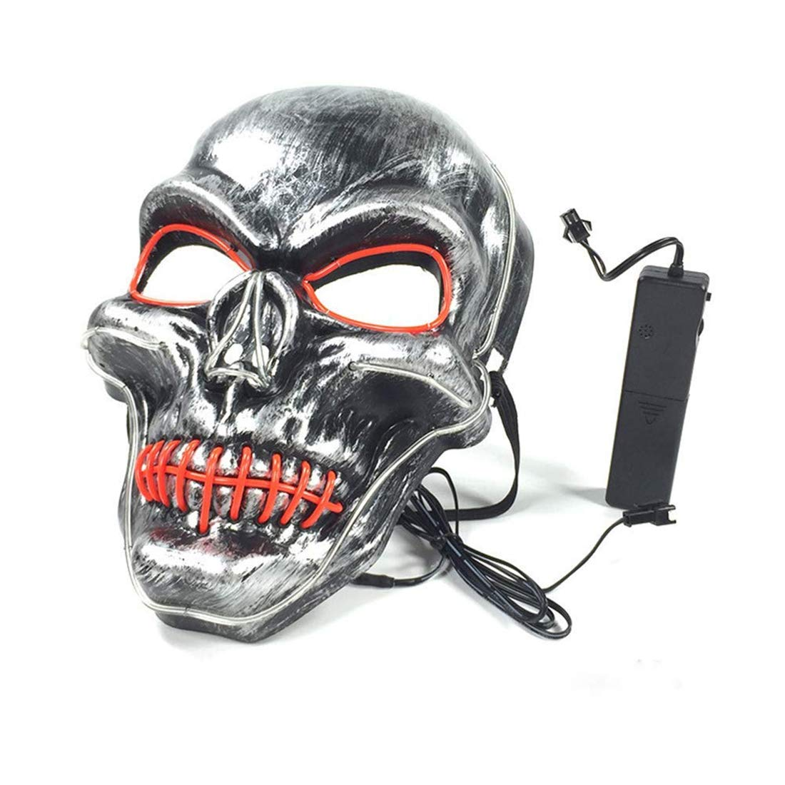 Halloween Mask LED Cosplay LED Glow Scary Light Up Masks for Festival Party Parties Costume Christmas