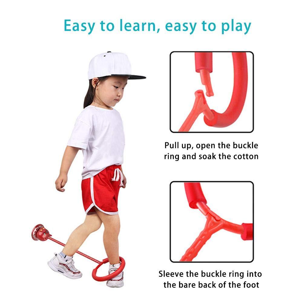 /überspringen Ball springseile Sport schwingen Hyun Dance Flash Kids /übung koordination Balance Hoop Spielzeug verbessert kn/öchel einbeiniger springring f/ür Jungen und m/ädchen Fitness b/älle Kinder