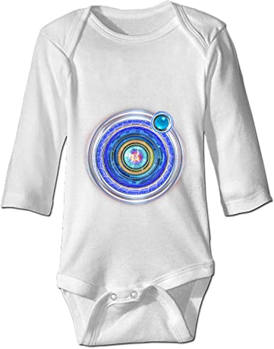 SAMMOI Minimal Solar System Baby Triangle Romper Bodysuit Jumpsuit Onesie Black