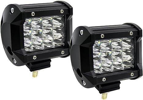 2 Pezzi Super PDR 4 Pollici 36W Barra LED Fuoristrada Spot Faro LED Fuoristrada Barra Luminosa LED Faro LED Auto Impermiable Luci da Auto Faro da Lavoro LED per SUV ATV UTV Truck Barca