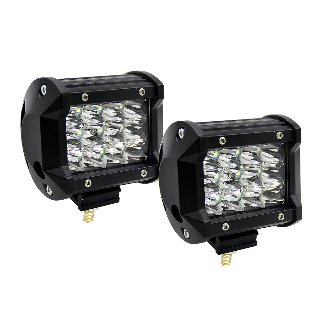 Pack of 2 Ricoy Light Bar 5 Inch 72W LED Lights Spot Combo Led Off Road Driving Lights Led Fog Lights Lights Boat Lighting LED Work Light,2 Years Warranty