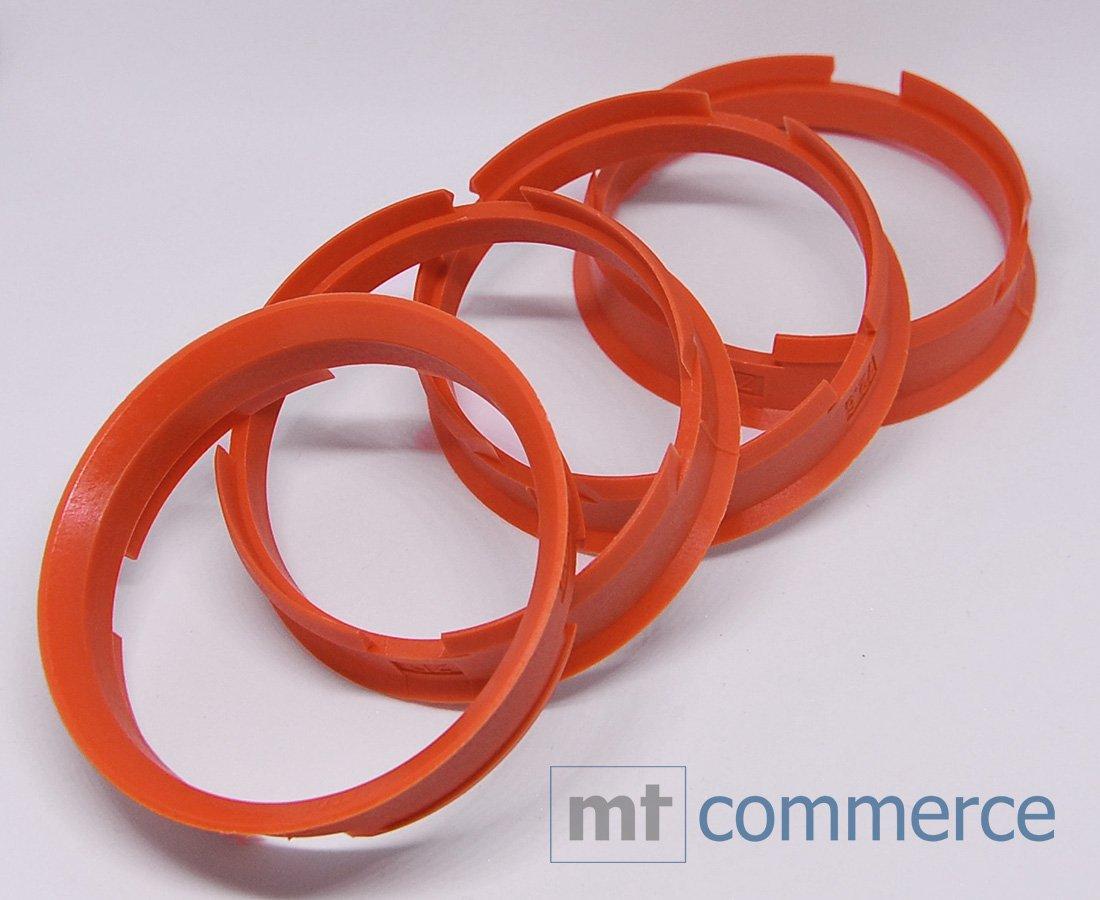 CRK 4X Zentrierringe 72,6 x 67,1 mm orange Felgen Ringe Made in Germany