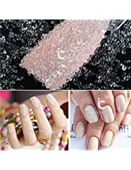 1 Box Nail Art Clear Glass Beads 3D Caviar DIY Glitter Bead Manicure Decoration