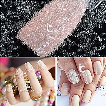 Adorable Black Caviar Beads Nail Art Design